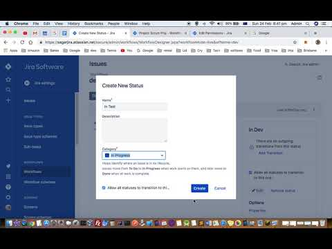 How To Create New Custom Workflow In Jira  | Add New Status And Transitions | Activate Workflow