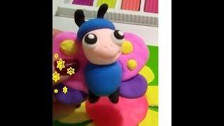 Бабочка из пластилина. Развивающее видео для детей.