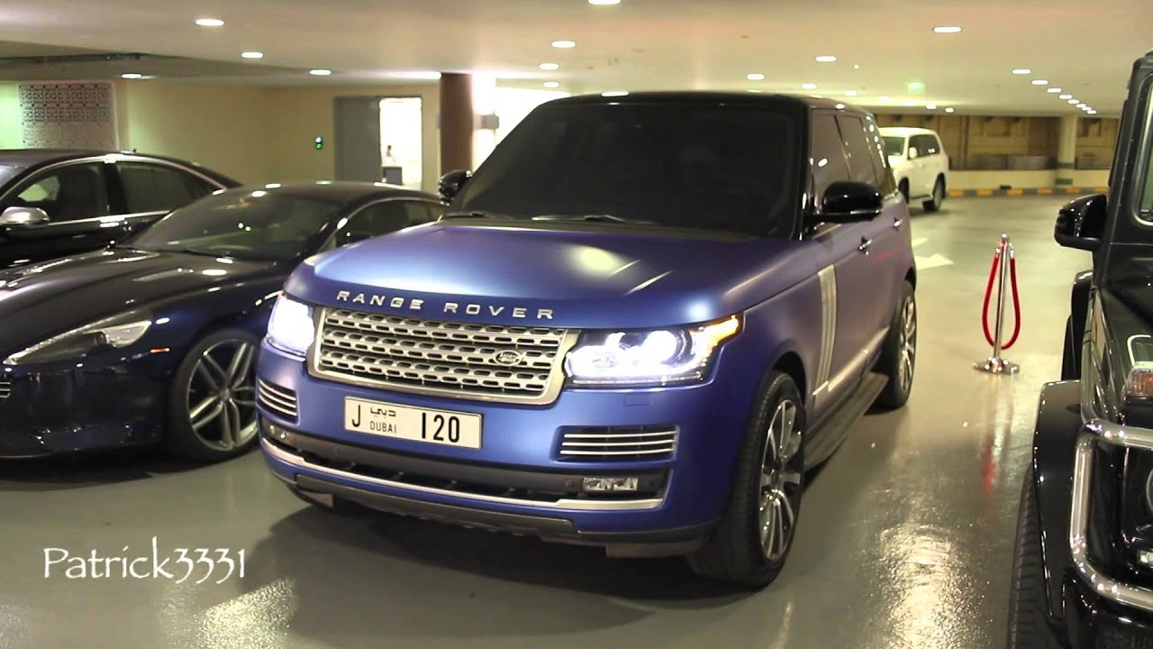 frosted blue Range Rover Vogue SE Supercharged new Fashion