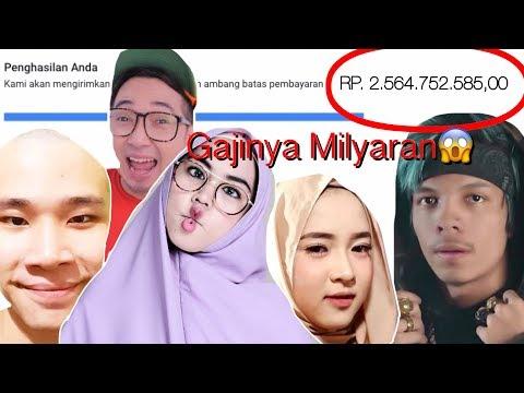 Gajinya Milyaran?? 10 Youtuber Penghasilan Gaji Terbesar di Indonesia