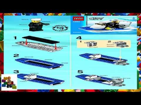 Lego Instructions City Police 30002 Police Boat Youtube