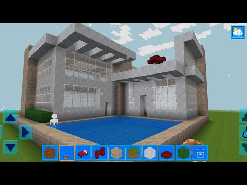 RealmCraft With Skins Export To Minecraft Gameplay #119 (iOS & Android) | Small Mansion With Pool