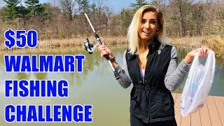 THIS RANDOM GIRL HAS NEVER FISHED BEFORE!!! ($50 Walmart Fishing Challenge)