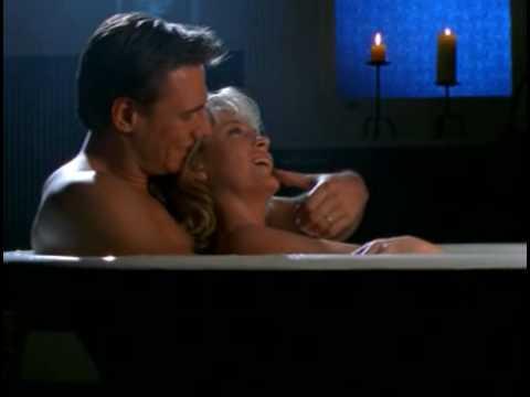 Rebecca Gibney in a bath of bliss ;