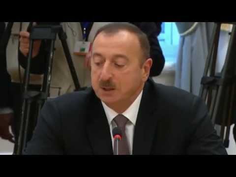 выступление Ильхама Алиева