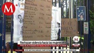 Contra acoso, hacen paro feminista en Filosofía y Letras de la UNAM