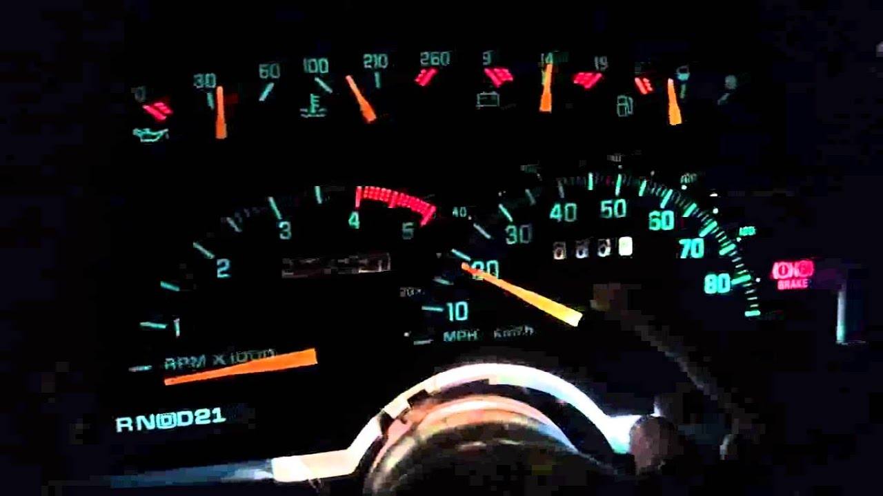 93 Chevy Truck Wiring Diagram Ibanez Diagrams 5 Way Switch 1990 Needle Gauge Installed - Youtube