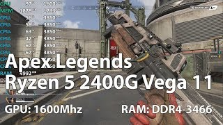 Apex Legends on AMD Ryzen 5 2400G Vega 11 OC (Retest) - Gameplay Benchmark Test