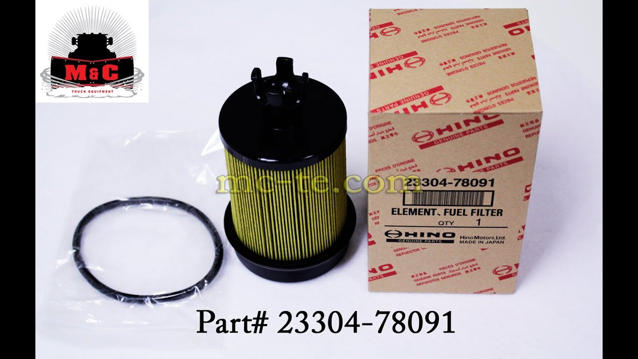 Hino Fuel Filter Location Wiring Diagram Libraries Engine Element 23304 78091 Youtube