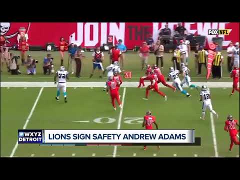 Lions sign safety Andrew Adams, OL Oday Aboushi