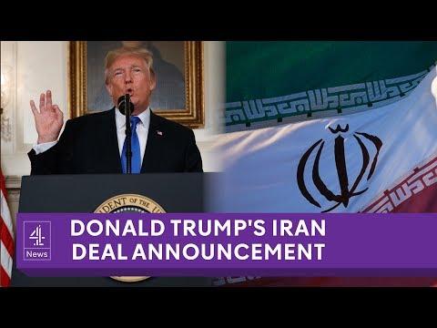 LIVE: President Trump Iran nuclear deal announcement