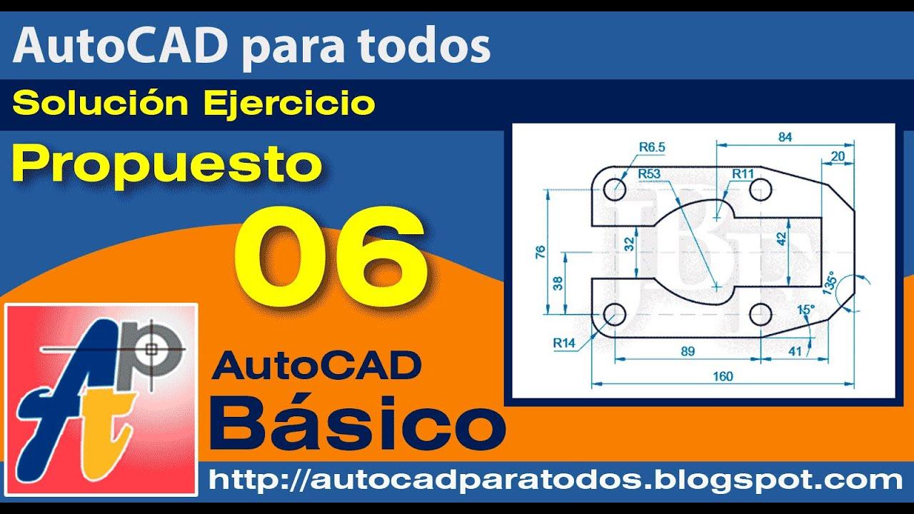 Solución Ejercicio Propuesto 06 - AutoCAD Básico