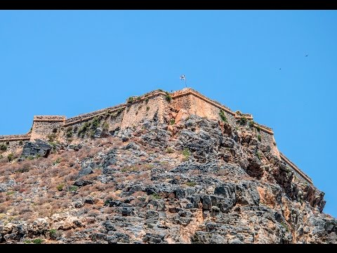 Pirate island  Crete .  Island and Fort Gramvousa