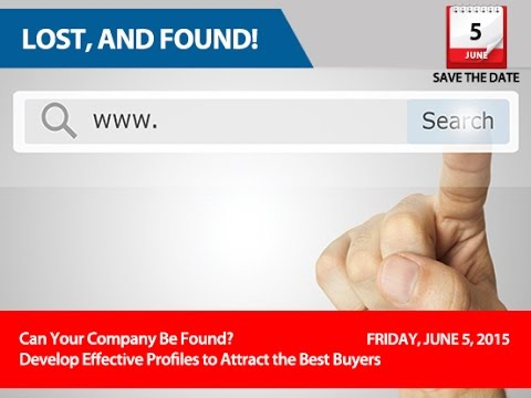 Lost, and Found! Can your Company Be Found? SBS Seminar
