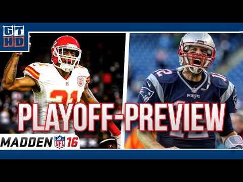 NFL Playoff Preview - Kansas City Chiefs vs. New England Patriots [Madden NFL 16/Deutsch]