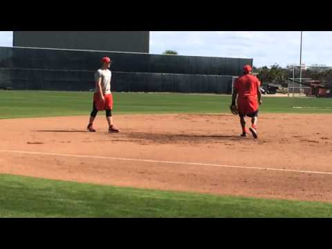Pablo Sandoval takes grounders at Boston Red Sox spring training 2016