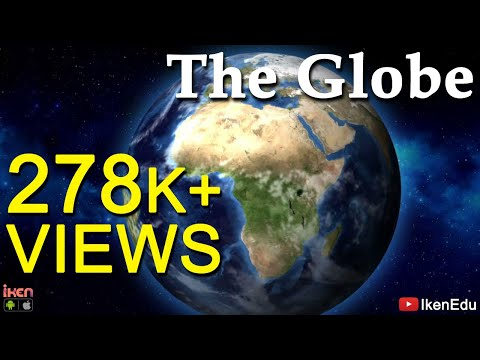 Planet Earth Globe Animation - Latitudes,longitudes, Continents And Oceans