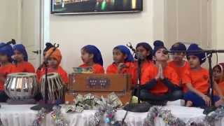 Kids doing Kirtan at Gurudwara Nishkam Seva, Irving, Dallas