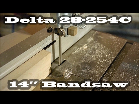 """Delta 14"""" Band saw 28-254 Nickel Coin Vibration Test"""