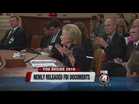 FBI Releases Documents on Hillary Clinton