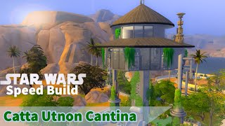 Catta Utnon Cantina | Sims 4 Speed Build | No CC | Journey To Batuu