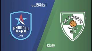 #EuroLeague 24. Hafta: Anadolu Efes - Zalgiris
