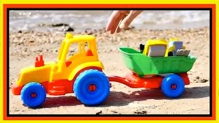 Toy Cars for Kids Seaside Playground - GAS STATION Road Roller Toy Trucks & Tractors Videos for kids