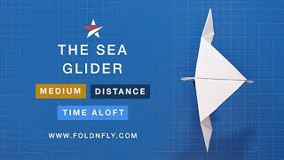 Fold 'N Fly ✈ The Sea Glider Paper Airplane