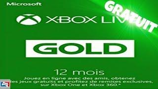 XBOX LIVE GOLD GRATUITEMENT