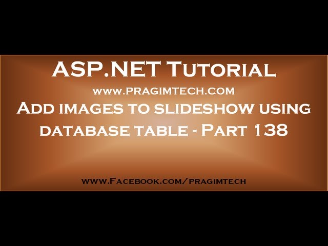 Add images to slideshow using database table   Part 138