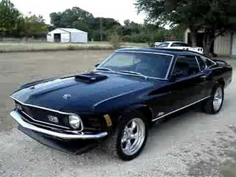 1970 Mustang Mach 1 Triple Black Youtube