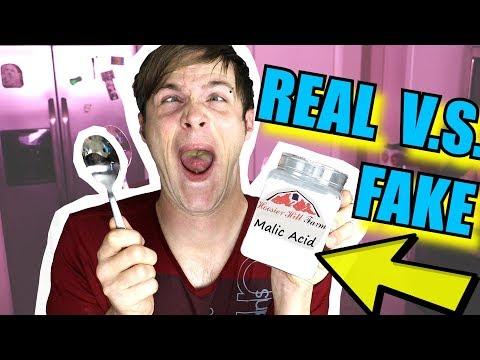 Real Food VS Fake Food (MALIC ACID) - Here's What Happened