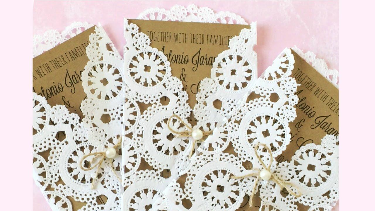 DIY Rustic Wedding Invitation | Wedding Series 👰🏽💍 - YouTube