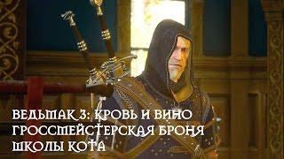 Ведьмак 3: Кровь и вино - гроссмейстерская броня школы Кота