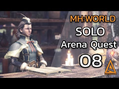 Monster Hunter World Arena Quest 08 Solo Radobaan, Uragaan /