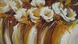 Repeat youtube video Como pintar un cuadro con texturas - Gabriela Mensaque
