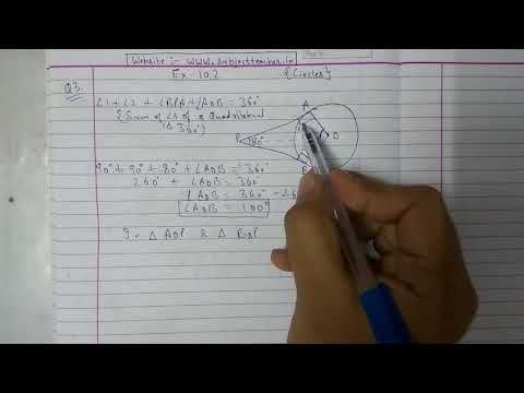 Chapter 10 Exercise 10.2 (Q3) CIRCLES || NCERT || Maths class 10