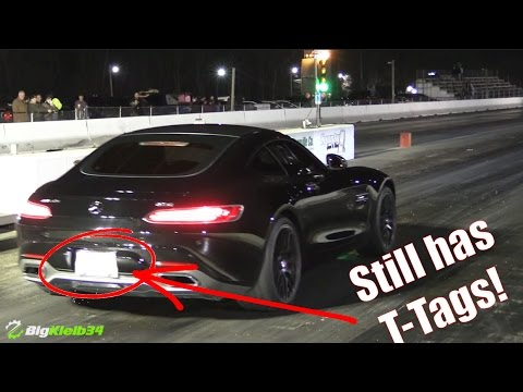 $100k+ Mercedes AMG GT Hits the Strip, Still has T-Tags!