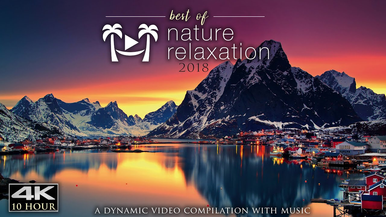 10 HOURS of Healing Music & 4K Nature: Best of 2018 Mix (No Loops) Worlds Paradises by Drone UHD