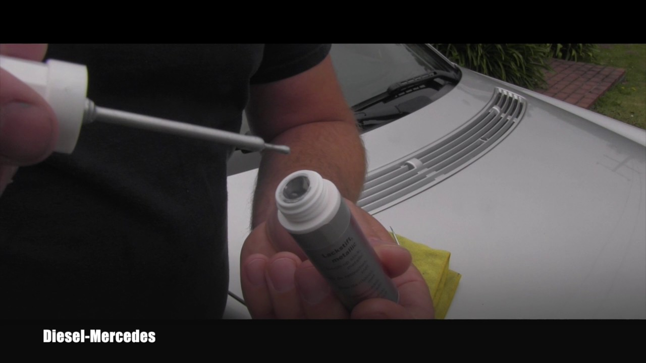 How to use touch up paint on mercedes benz youtube for Mercedes benz touch up paint