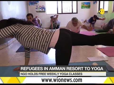 Refugees curing war trauma through Yoga