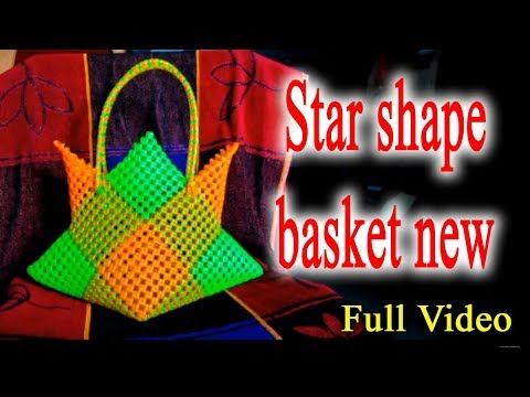 Star shape basket new - Full Video