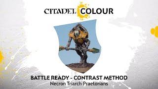 How to Paint: Battle Ready Necron Triarch Praetorians – Contrast Method