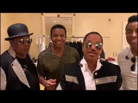 The Jacksons support