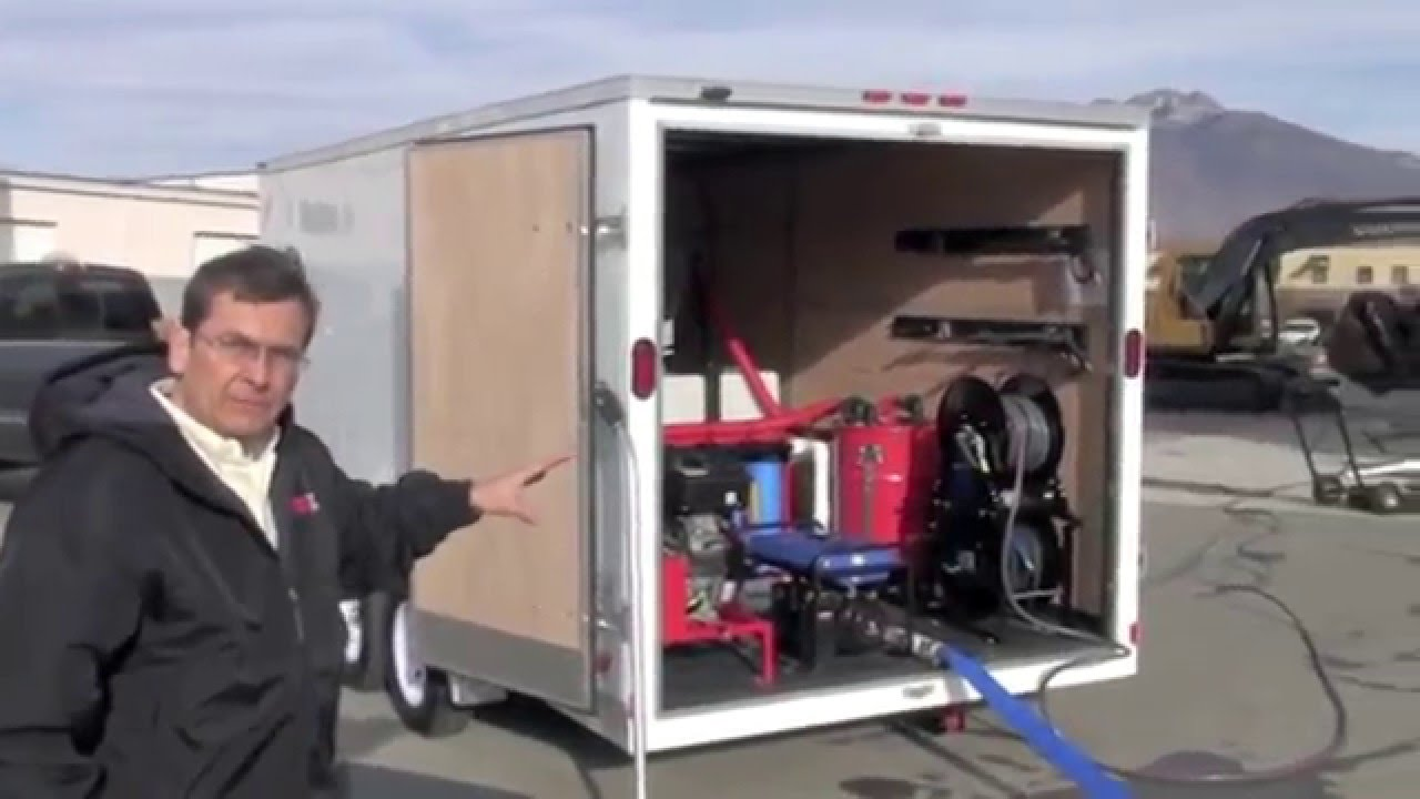 Power Washer Pressure Washer Enclosed Trailer