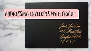 How To: Addressing EnveĮopes with Cricut | Easy Wedding DIY
