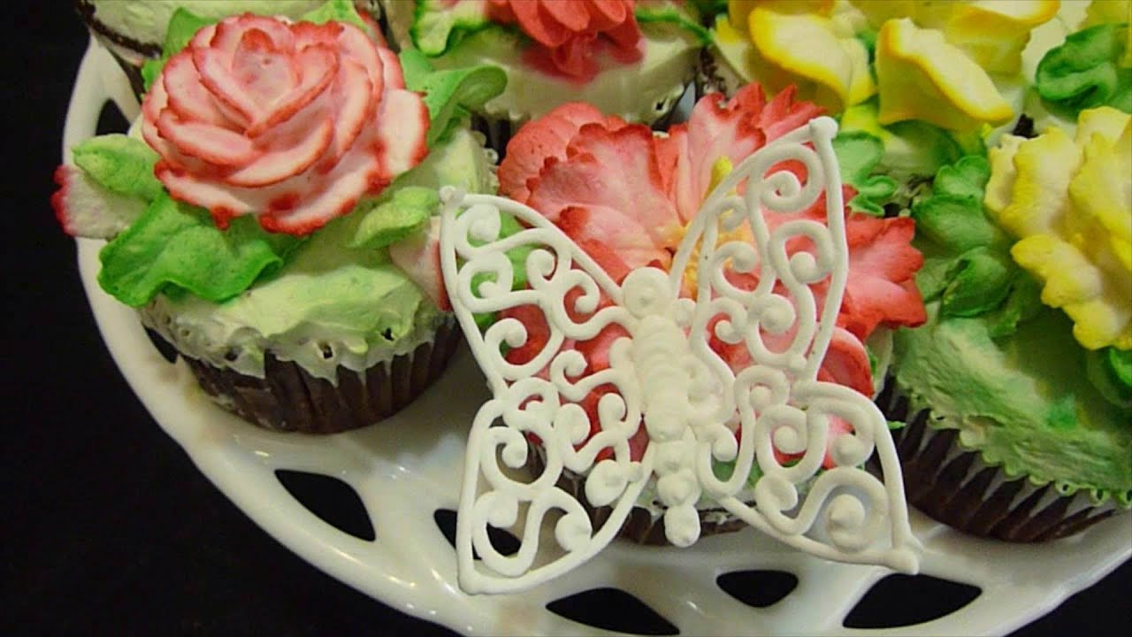 Lace Butterfly Cake Decorations
