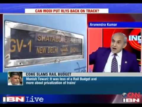 CNN IBN Programme: Railway Budget 2014-15