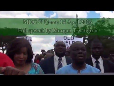 MDC-T Demo in Harare - 14 April 2016