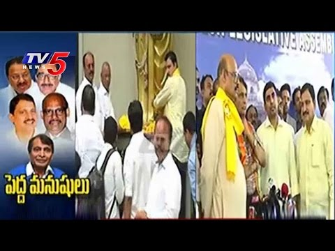 TDP Lokesh & TG Venkatesh Speaks With Media | Rajya Sabha 2016 Nominations | TV5 News